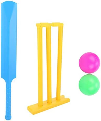 Kids Cricket Set Heavy Duty ABS Plastic Cricket Bat Set Cricket Bat and Ball Beach Wicket Stand product image
