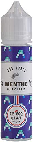 LE COQ QUI VAPE E-liquide pour cigarette électronique, Menthe Glaciales Sans nicotine ni tabac