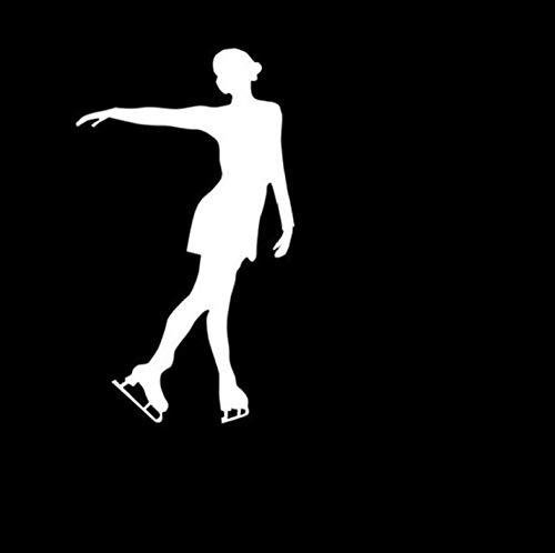 Auto-Autoaufkleber-Abziehbild Moderne Eiskunstlauf Wintersport Auto Aufkleber Decals Eis Tanzen Haltung Motorrad Aufkleber Auto Aufkleber 10 * 17 CM 2 Stück