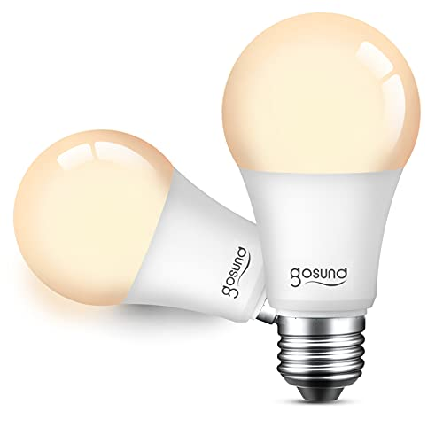 Smart Alexa Light Bulbs 75W Equivalent E26 8W Upgraded LED WiFi Bulb A19 Dimmable Works with Amazon Echo Google Home, No Hub Required Warm White 2 Pack, 2.4GHz WiFi Only