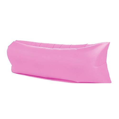 DjfLight Opblaasbare slaapbank, voor buiten, draagbaar, snel opblaasbaar, slaapbank roze
