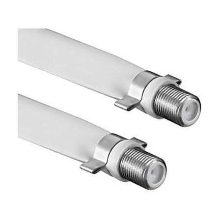 Conecto Standard Fensterdurchführung Für Sat Kabel Koaxial F Kupplung Auf F Kupplung 20 Cm Weiß Heimkino Tv Video