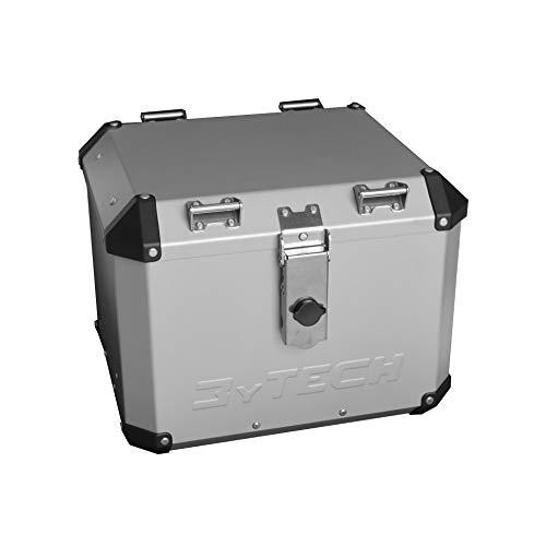 MyTech - TopCase, Top Case, Motorradkoffer 41L aus hochfestem Aluminium schwarz beschichtet – mit Trägerplatte für R 1200 GS LC 2013 – R 1250 GS LC (Silber)