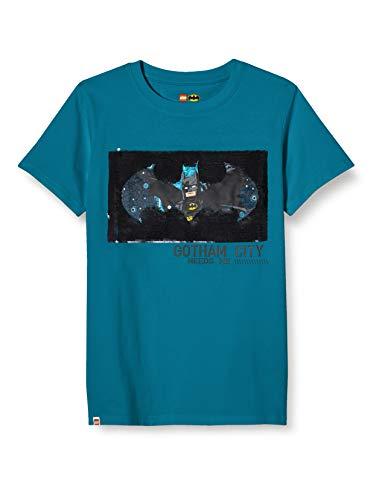 LEGO Jungen MW Wendepailletten Batman T-Shirt, 763 Sea Turquise, 104
