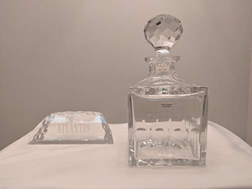 VISTA ALEGRE Botella Wisky de cristal 30% plomo Atlantis Crystal 900 ml Mod. Evora 5460 11 x 11 x 22 h