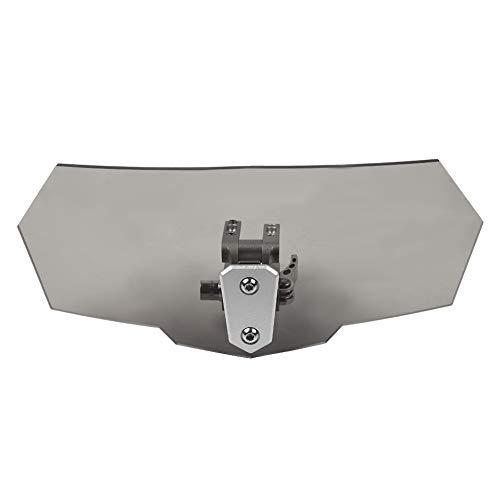 Deflector de Viento Universal - Deflector Viento Parabrisas Universal Flujo de aire universal ajustable para la mayoría de motocicletas (Negro)