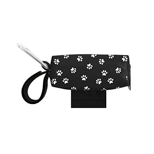 Doggie Walk Bags Dog Poop Bag Holder for Leash, Dog Waste Bag Dispenser with Metal Clip and Adjustable Strap, Tie Handles