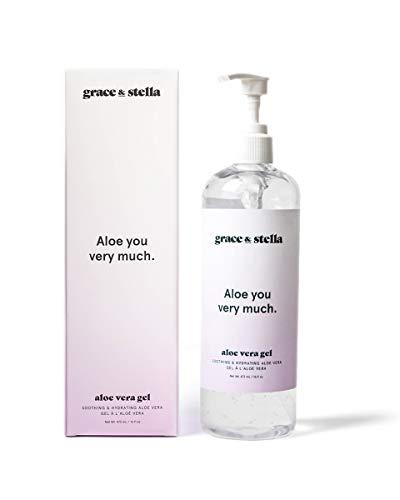 Aloe Vera Gel 473ml Pumpflasche - After Sun Pflege für Haar und Körper | 100% vegan und frei von Parabenen