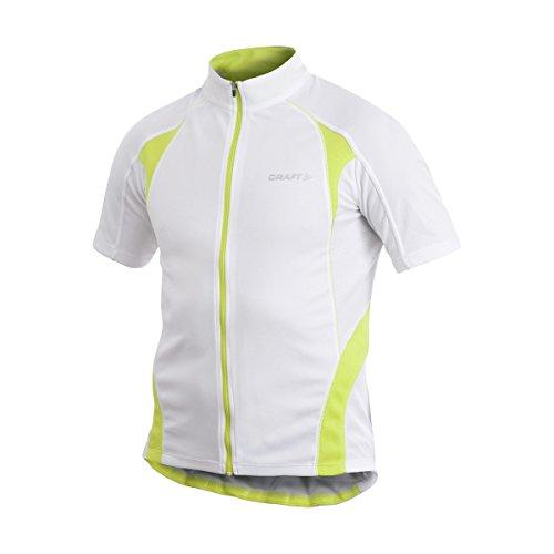 CRAFT – Maillot de Cyclisme pour Homme, Blanc/Vert, L