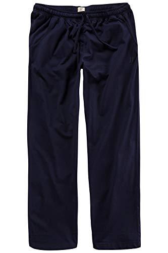 JP 1880 Herren große Größen bis 8XL, Pyjama-Hose aus 100{fcfd915936874eb99871b0437d9fba393d597902b4648e0509aa5eceb7f3c0d4} Baumwolle, Schlafanzug-Hose, Sweatpants mit elastischem Bund Navy 5XL 708406 76-5XL
