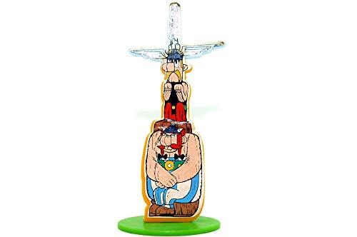 Kinder Überraschung Asterix in Amerika von 1997. Totempfahl mit Beipackzettel und Aufkleber noch auf Folie