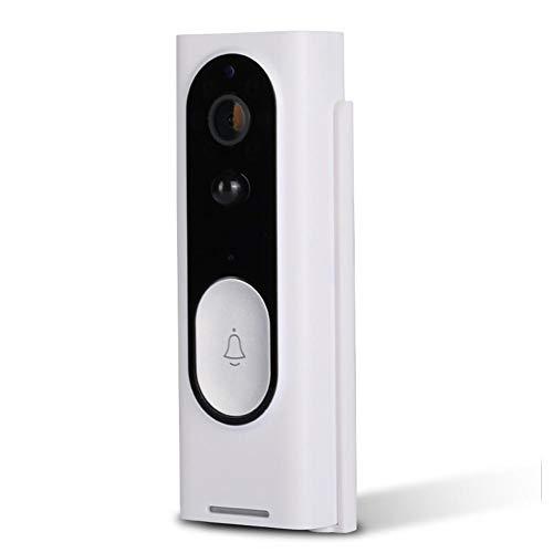 Makluce Intelligente WiFi-video-deurbel, 720P HD-camera/HD-nachtzichtapparaat/sensor: COMS sensor 1/4/twee 18650-batterijen/bewaking op afstand voor binnen of buiten
