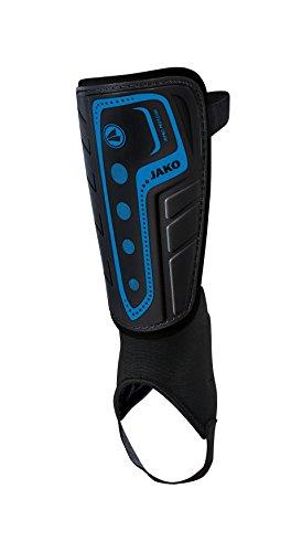 Jako Schienbeinschoner Dynamic Classic Hartschale ohne Knöchelschutz, Schwarz/Blau, XL