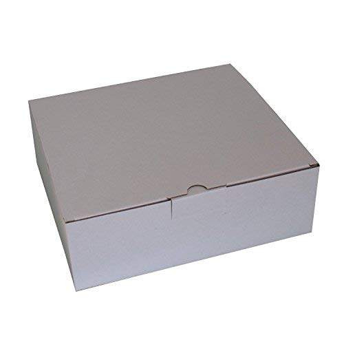 50 Stück Versandkartons Postkartons Blitzbodenkartons Faltkartons weiß 270x235x95 mm Maxibrief-kartons Versandschachtel Wellpappe