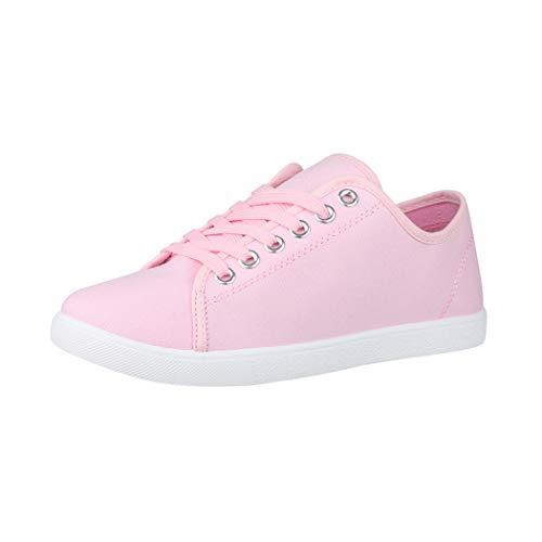 Elara Damen Sneaker Basic Chunkyrayan CL33318 Pink-39