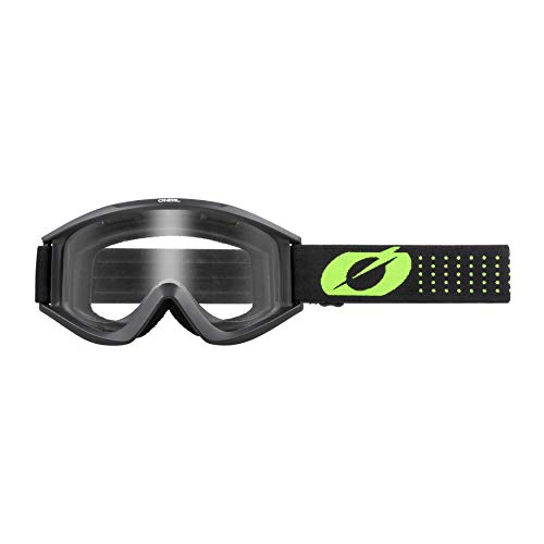 O'NEAL   Fahrrad- & Motocross-Brille   MX MTB DH FR Downhill Freeride   Hochwertige 1,2 mm-3D-Linse für ultimative Klarheit, UV-Schutz   VAULT Goggle Solid   Schwarz Neon-Gelb   One Size