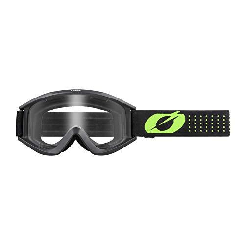 O'Neal | Gafas de Motociclismo y Motocross | MX MTB DH FR | Lente 3D de durable de 1,2 mm para una máxima claridad, protección UV | Gafa VAULT Solid | Negro Amarillo Neón | Talla única