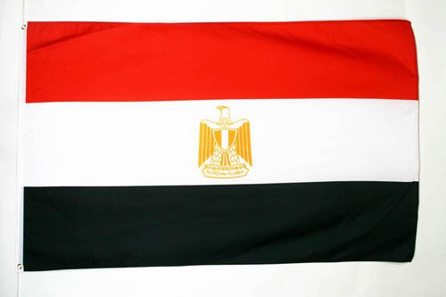 AZ FLAG Flagge ÄGYPTEN 90x60cm - ARABISCHE Republik ÄGYPTEN Fahne 60 x 90 cm - flaggen Top Qualität
