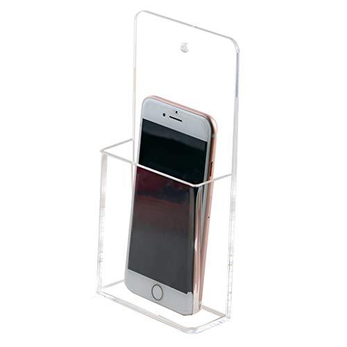 Coffres de rangement Boîte de Rangement Lot de 2 Papeterie Acrylique Transparent Tableau Blanc Stylo Mural Télécommande Murale Télécommande Murale Boîte de Mural pour Téléphone Portable