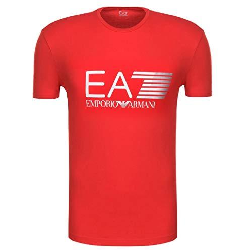 Emporio Armani Camiseta para hombre EA7 3ZPT62 PJ03Z, manga corta, cuello redondo