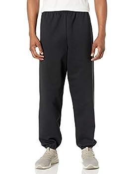 Hanes Men s EcoSmart Non-Pocket Sweatpant Black Medium