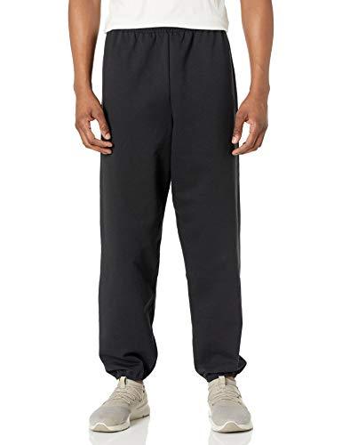 Hanes Men's EcoSmart Fleece Non-Pocket Sweatpant, Black, Medium