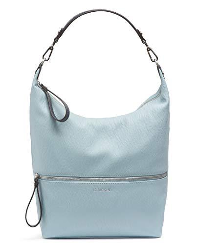 Calvin Klein Damen Elaine Bubble Novelty, wichtiger Gegenstand, Hobo-Tasche, aus Lamm, Blau - Twilight Blue, Einheitsgröße