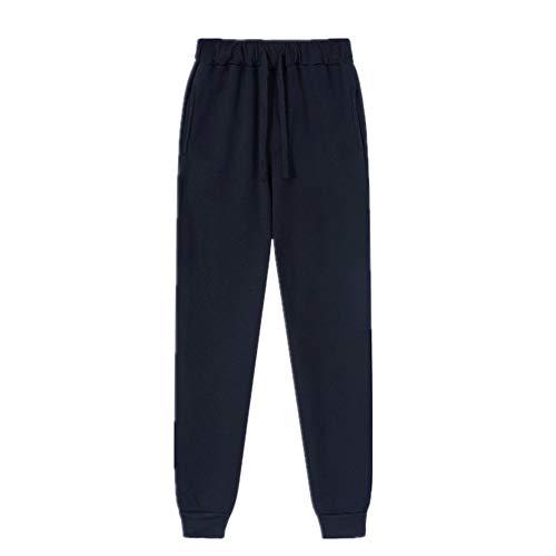 N\P Pantalones deportivos casuales de color puro de los hombres pantalones de jogging pantalones de fitness Qiu hombres pantalones de jogging