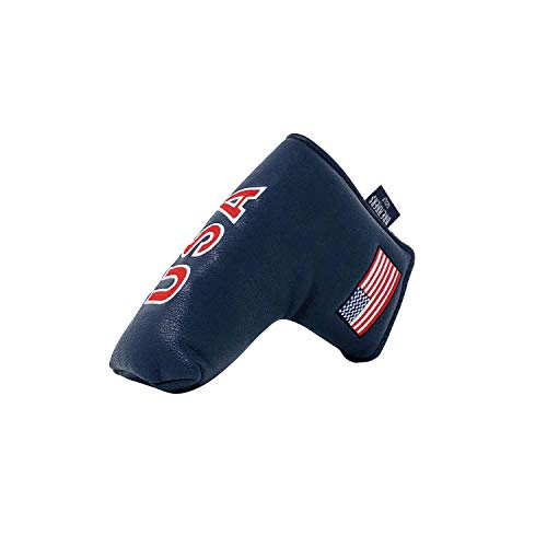 And Etcetera Golf Blade Putter Cover USA Flag Headcover Synthetic Leather Magnetic Closure for Scotty Cameron Odyssey Taylormade Ping Callaway Patriotic (Blue)