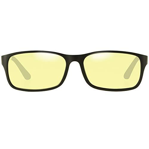 Duco Gafas para Gaming Bloqueadoras de Luz Azul para Jugar Videojuegos en PS4 PC Xbox Negro 223