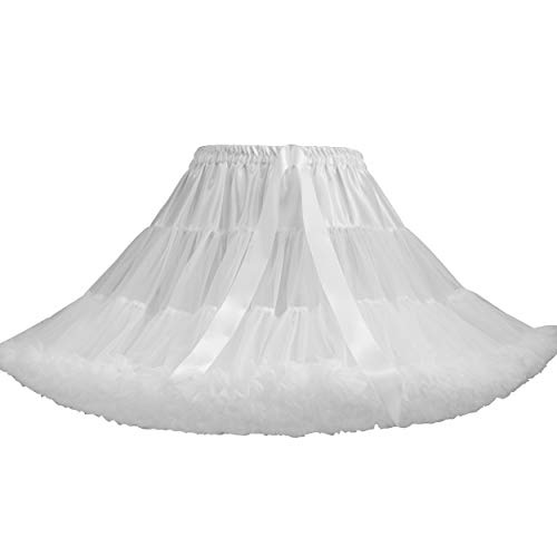 TaoQi Petticoat Skirt for Girls Womens Bubble Skirt Pettiskirt Tutu Skirt TuTu Ball Gown Fluffy Skirt Puffy Petticoat For Dance, Party, School, Evenings, Gatherings Ballet Pleated Tulle Cosplay Skirt