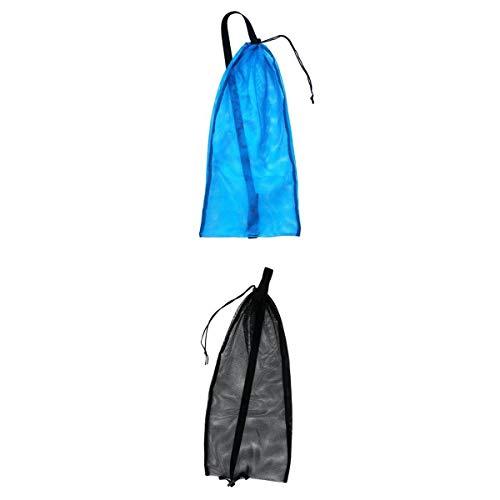 2pcs Tauchen Mesh Bag Dive Flossen Flippers Maske Schnorchel Carrier Pack Mit Gurt