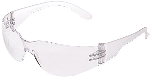 Radians Clear Safety Glasses, Scratch-Resistant, Wraparound, One Size