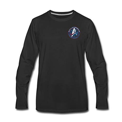 Spreadshirt Star Trek Discovery Emblème Starfleet Poitrine T-Shirt Manches Longues Premium Homme, L, Noir
