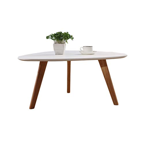 LIUTIAN Creative Personality Table Simple Modern Coffee Table Oval Solid Wood (Size : 700 * 550)