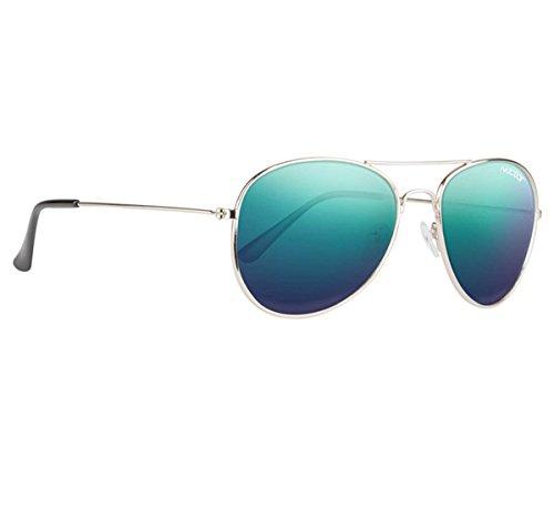 Nectar Classic Metal Aviator Sunglasses w/ Polarized Lenses & UV Protection (Silver...