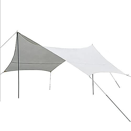 FLZXSQC Tienda Impermeable Al Aire Libre, Área De Sombreado Grande, Toldo para Acampar, Adecuado para Camping Familiar, Camping Y Senderismo,Blanco