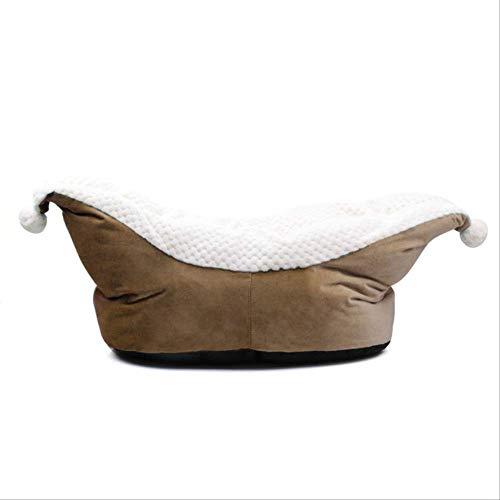 Tiefschlaf Hundebett Für Kleine Hunde Bootsform Verdicken Katzenbett Winter Warm Fleece Hundebett Haus Nettes Katzenbett Waschbar Kaffee