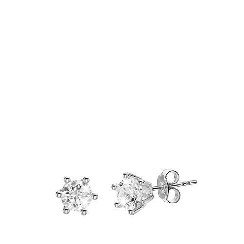 Diamond Solitair - Gelbgoldene Solitärohrringe mit Diamanten (0.75 ct). - für Damen - Weiß