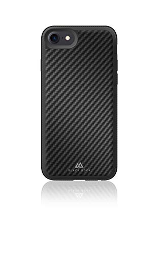 Black Rock - Material Case Real Carbon kompatibel mit Apple iPhone 6/6S/7/8/ SE (2020) | Kameraring, Karbon, High-Tech-Fasern (Schwarz)