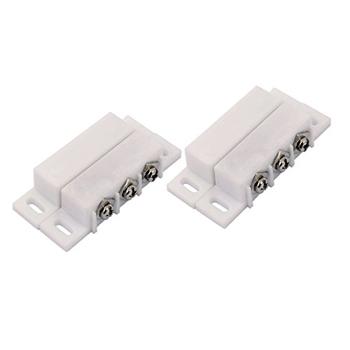 2Sets Magnetic Reed Switch Normally Open Closed NC NO Door Alarm Window Security/Magnetic Door Switch/Magnetic Contact Switch/Reed Switch for GPS,Alarm or Other Device,DC 5V 12V 24V Light