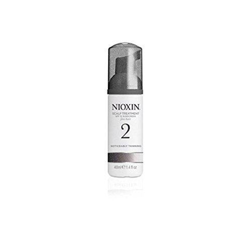 Système Nioxin Traitement 2 Du Cuir Chevelu Pour Les Cheveux Naturels Sensiblement Amincissement (100 Ml) (Pack de 4)