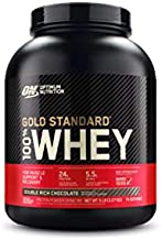 OPTIMUM NUTRITION GOLD STANDARD 100% Whey Protein Powder, Double Rich Chocolate 5 Pound (Packaging May Vary)