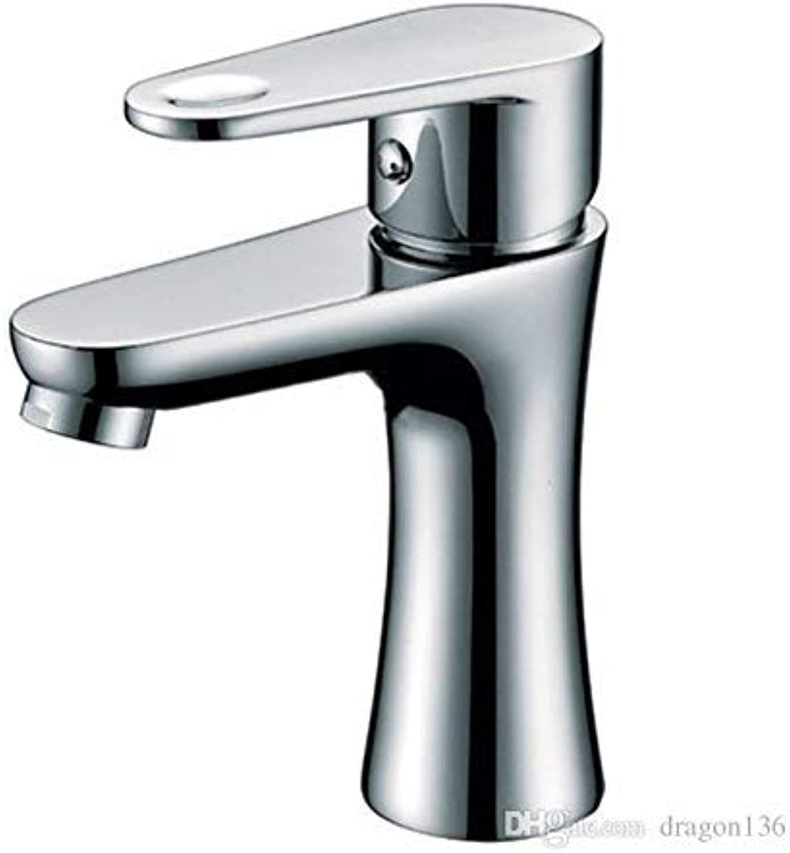 Oudan Modern Chrome Bathroom Basin Brass Faucet Single Handle Basin Mixer Deck Mounted Ny04211 (color   -, Size   -)