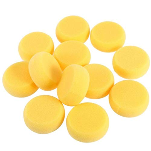 12pcs Round Synthetic Watercolor Artist Sponges for Painting Crafts Pottery Paint Round Sponge Tool