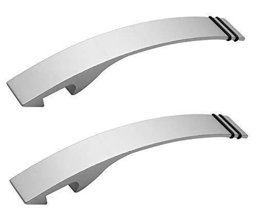 REFLECTS Flaschenöffner Aluminium mattsilber Kapselheber elegant Silber 125mm 2er Set