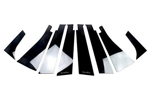 SecondStage 日産 ノートE12 ピラーガーニッシュ 純正バイザー装着車専用 ピアノブラック SHN0178BLK