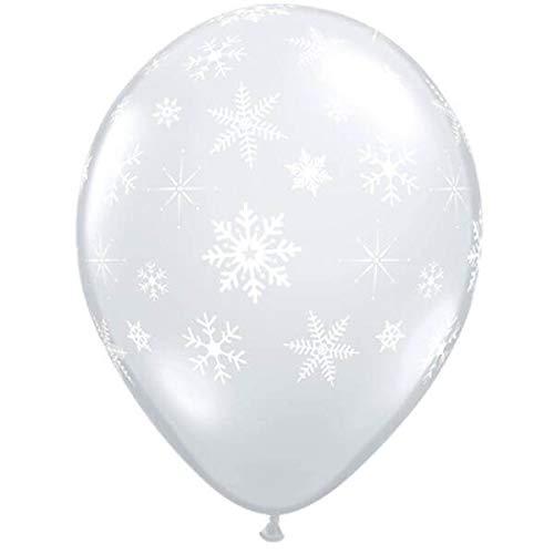 Qualatex 50 Ballon Flocons Tout Autour Transparent Taille 27 cm (11)