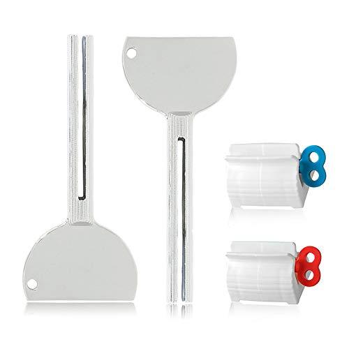 Gresunny 4pcs exprimidor de tubos apretadores de tubos metálico exprimidors de pasta de dientes...