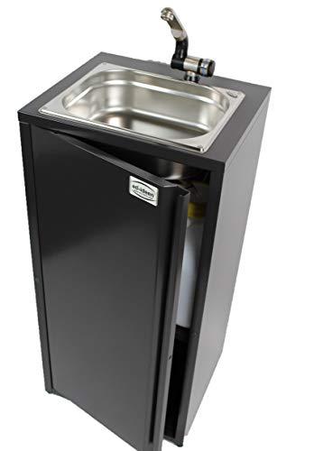 Mobiles Handwaschbecken Waschbecken Verkaufsstand Marktstand Imbiss Wasserversorgung Food Truck Anthrazit (N) (ad-ideen)